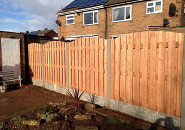 Double Paling Wooden Fence Panels Sheffield